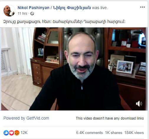 """""""Qarabağ məsələsində inkişaf var, amma bizi qorxudurlar"""" - Paşinyan ilk dəfə etiraf etdi"""
