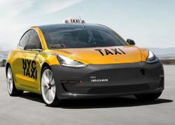 Tesla Model 3 Manhettendə taksi işləməyə icazə alıb - FOTO