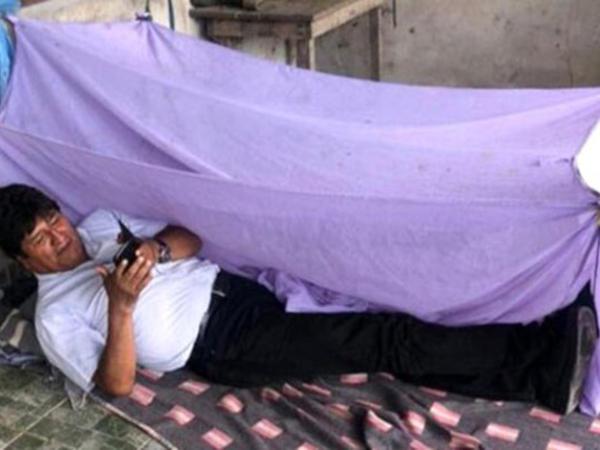 Boliviya prezidenti istefadan sonra ilk gününü belə keçirib - FOTO