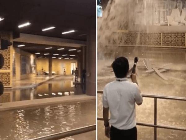 Dünyanın ən böyük ticarət mərkəzini su basdı - VİDEO