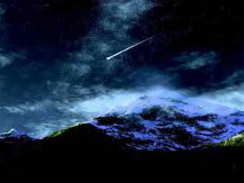 Meteoritin düşmə anı - VİDEO