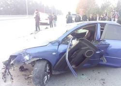 """Gəncədə """"Mazda"""" aşdı: bir ölü, üç yaralı - <span class=""""color_red"""">FOTO</span>"""