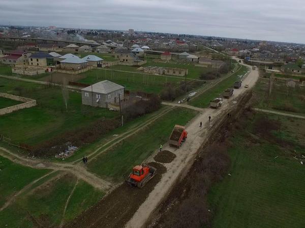 Xaçmazda 8 yaşayış məntəqəsinin yolunun yenidən qurulması yekunlaşır - FOTO