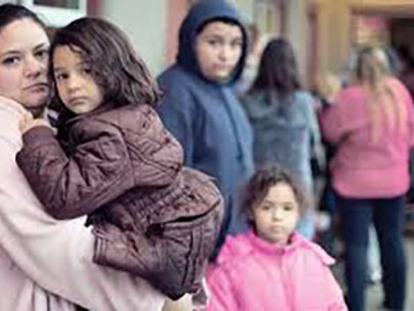 Avropada evsizlər üçün sığınacaqlarda qalan qadınların və uşaqların sayı artmaqdadır