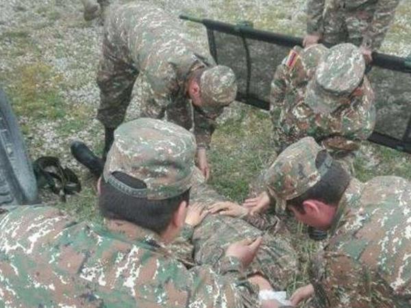 """Ermənistanda partlayış: <span class=""""color_red"""">hərbçi yaralandı</span>"""