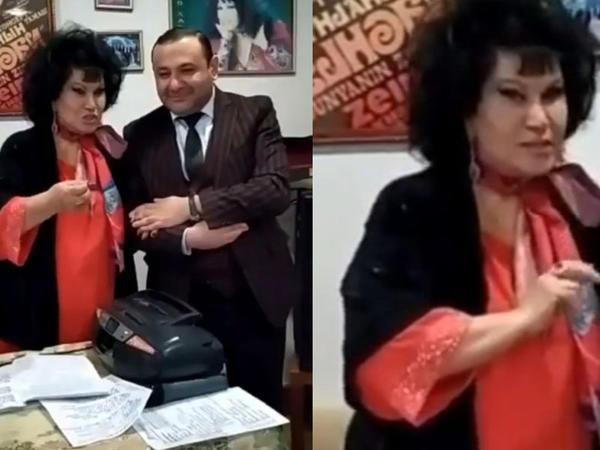 """Zeynəb Xanlarovanın yeni görüntüsü - <span class=""""color_red"""">VİDEO</span>"""