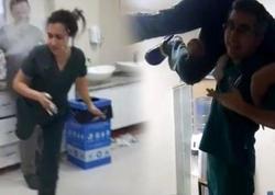 Həkimlərin iş vaxtı cinsi əlaqədə olduğu xəstəxanada daha bir biabırçılıq - VİDEO - FOTO