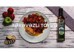 """""""Zeytun Bağları"""" ilə hazırlanmış Tərəvəzli toyuq - VIDEO"""