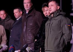 Zelenski geri qaytarılan Ukrayna gəmilərini qarşılayıb