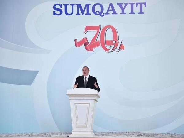 """Azərbaycan Prezidenti: """"Sumqayıt bu gün müasir sənaye şəhəridir, Cənubi Qafqazın ikinci sənaye şəhəridir"""""""