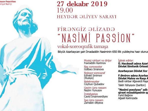 """""""Nasimi passion"""" vokal-xoreoqrafik tamaşasının məşqləri davam edir"""