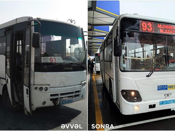 """Bakıda 2 marşrut xəttinə iritutumlu avtobuslar verildi - <span class=""""color_red"""">FOTO</span>"""