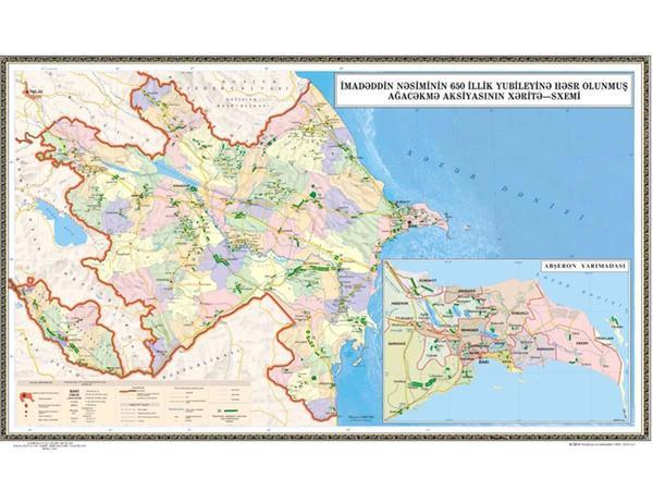 650 min ağacın əkiləcəyi ərazilərin xəritəsi hazırlanıb