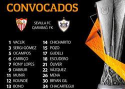 """&quot;Qarabağ&quot;la oyun üçün 18 futbolçu - <span class=""""color_red"""">""""Sevilya""""nın iştirak ərizəsi</span>"""