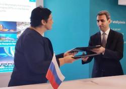 """""""Azərkosmos"""" və """"Rusiya Peyk Rabitəsi"""" arasında əməkdaşlıq müqaviləsi imzalanıb - FOTO"""
