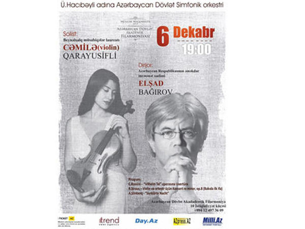 Azərbaycan Dövlət Simfonik Orkestrinin konserti keçiriləcək