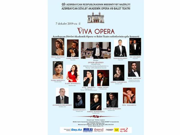 """Opera və Balet Teatrında """"Viva Opera"""" adlı qala konserti keçiriləcək"""