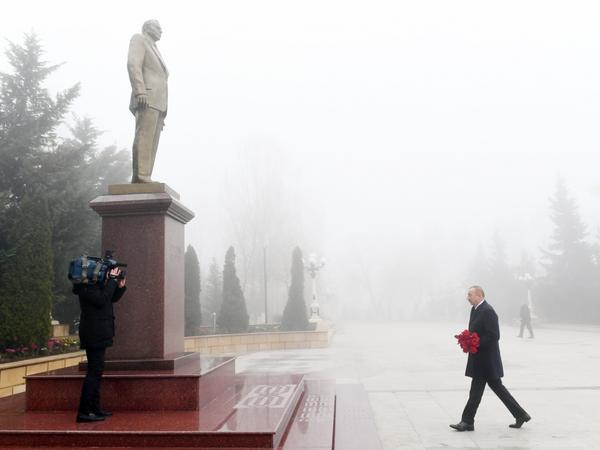 Prezident İlham Əliyev Şamaxı rayonuna səfərə gedib - FOTO