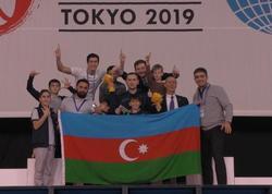 Yeniyetmə gimnastlarımız Batut Gimnastikası üzrə Dünya Yaş Qrupu yarışlarında II yeri tutublar - FOTO