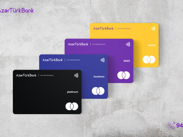 Azər Türk Bankdan yeni dizaynlı plastik kartlar və pulsuz xidmət