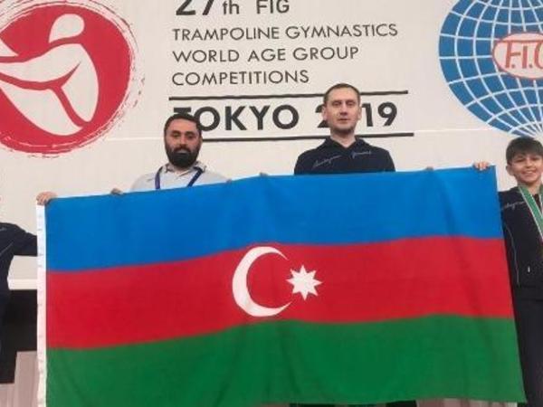 """Batutçularımız gimnastika tariximizdə ilk dəfə olaraq dünya ikincisi oldular - <span class=""""color_red"""">FOTO</span>"""