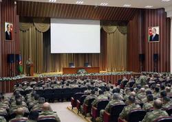 """Azərbaycan Ordusunun komandir heyətinin toplanışı keçirilir - <span class=""""color_red""""> FOTO</span>"""
