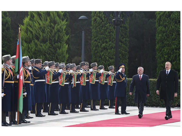 İordaniyanın Kralı II Abdullahın rəsmi qarşılanma mərasimi olub - FOTO