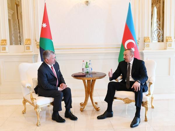 Azərbaycan Prezidentinin İordaniya Kralı ilə təkbətək görüşü olub - FOTO