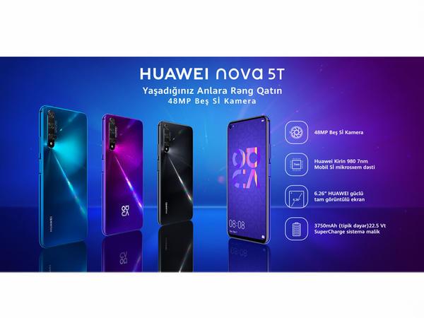 Sabah Yeni Ulduz Huawei Nova 5T modelinin Baku Electronics mağazalar şəbəkəsinin Nərimanov filialında rəsmi təqdimatı keçiriləcək