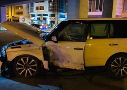 """Bakının Nərimanov rayonunda iki avtomobil toqquşub - <span class=""""color_red"""">VİDEO - FOTO</span>"""