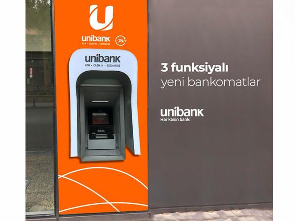 """""""Unibank""""ın bütün bankomatları üçfunksiyalı oldu"""