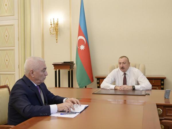 """Prezident İlham Əliyev """"Azərenerji"""" ASC-nin prezidentini qəbul edib - FOTO"""