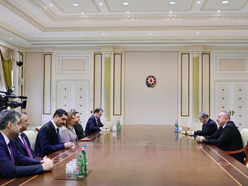 Prezident İlham Əliyev Türkiyənin Ticarət nazirinin başçılıq etdiyi nümayəndə heyətini qəbul edib - FOTO