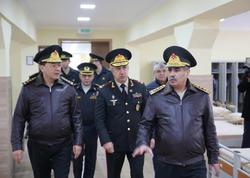 Zakir Həsənov Ali Hərbi Məktəbdə yeni kursant yataqxanasının açılışında - VİDEO - FOTO