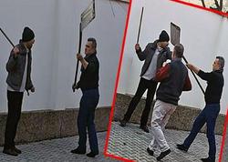 """Almaniyada azərbaycanlı məscidə hücum etdi: """"Bura şeytan yuvasıdır"""" - FOTO"""
