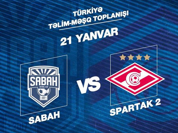 """""""Sabah"""" Moskva """"Spartak""""ı ilə qarşılaşacaq"""