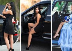 Azərbaycanlı idmançı modelin bahalı avtomobilləri - FOTO