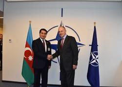 Hikmət Hacıyev NATO Mənzil Qərargahına səfər edib - FOTO