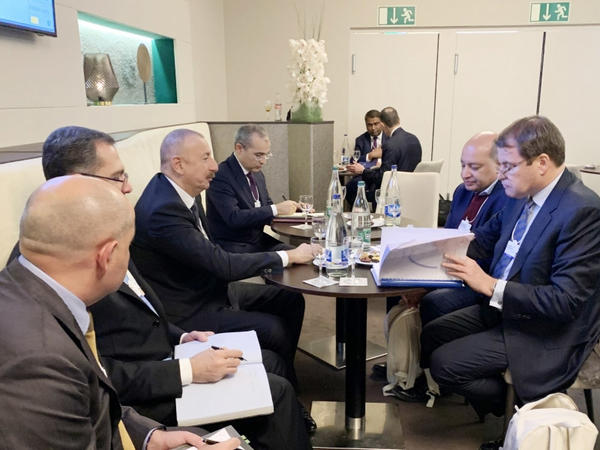 Prezident İlham Əliyev Avropa Yenidənqurma və İnkişaf Bankının prezidenti Suma Çakrabarti ilə görüşüb