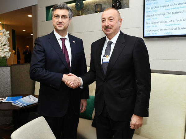 Prezident İlham Əliyev Xorvatiyanın Baş Naziri ilə görüşüb - FOTO