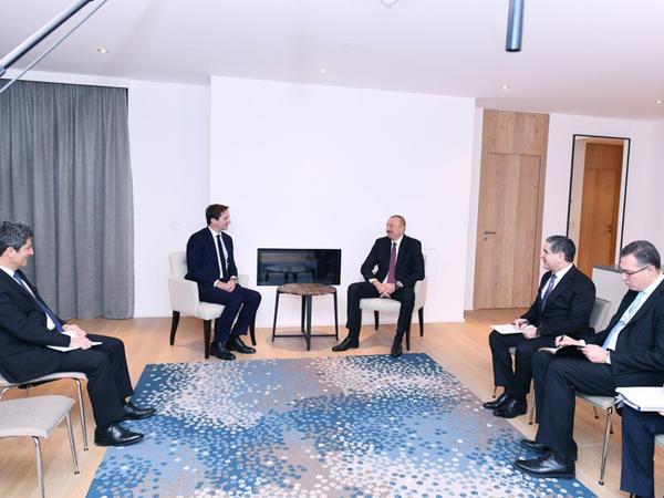 "Prezident İlham Əliyev ""SUEZ Group""un yeni baş icraçı direktoru Bertran Kamusla görüşüb - FOTO"