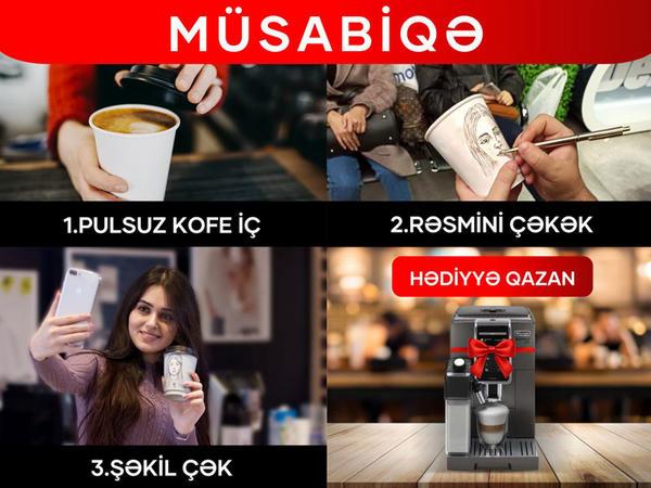 """""""Kontakt Home""""da pulsuz kofe için və 2400 AZN-lik hədiyyə qazanın"""