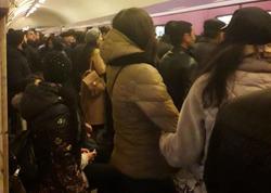 "Metroda nasazlıq olub, sıxlıq yaranıb - <span class=""color_red"">FOTO</span>"