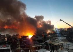 İstanbulda 6 balıqçı gəmisi yanır - VİDEO - FOTO