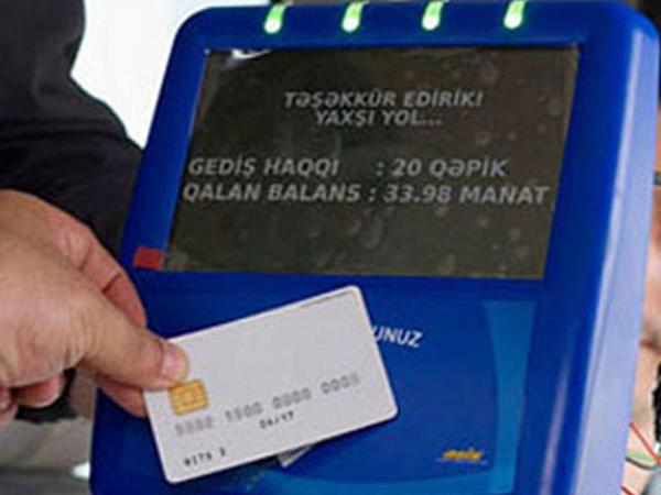 Daha bir marşrut avtobusu kart sisteminə keçib