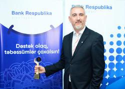 """""""Bank Respublika""""nın sosial layihəsi daha bir mükafat qazanıb"""