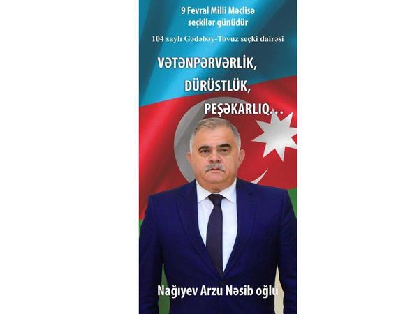 Azərbaycan Xüsusi Xidmət Orqanlarının Veteranları İctimai Birliyindən ÇAĞIRIŞ - Arzu Nagiyevə səs verin!