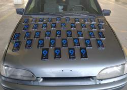 Mobil telefonları avtomobildə gizlədən sürücü ifşa edildi