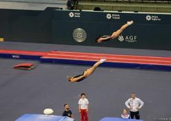Bakıda sinxron cütlər arasında batut gimnastikası üzrə yarışlarda finalçılar müəyyənləşib