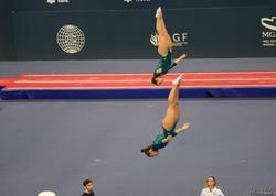 Batut gimnastikasında qadınlar arasında sinxron proqramda rusiyalı gimnastlar birinci yerə çıxıblar